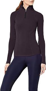 AURIQUE Amazon Brand Women's Half Zip Sports Long Sleeve Jacket