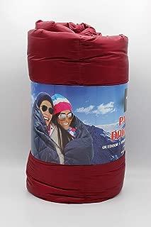 Double Black Diamond Ultra Light Indoor/Outdoor ALL SEASON Packable Down Throw Blanket with Stuff Sack -60