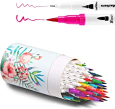 Ohuhu Art Markers Dual Tips Coloring Brush Fineliner Color Pens, 60 Colors of Water Based Marker for Calligraphy Drawing Sketching Coloring Book Bullet Journal Art Projects, Back to School Supplies
