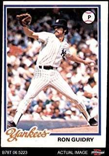 1978 Topps # 135 Ron Guidry New York Yankees (Baseball Card) Dean's Cards 4 - VG/EX Yankees