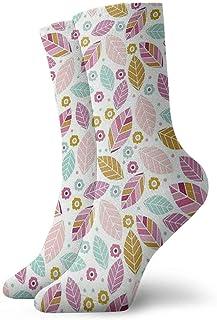 xinfub, Flores de Colores Calcetines de Tobillo Casual Divertido para Botas de Deporte Senderismo Running Etc. Cómodo10290