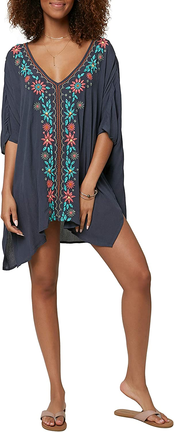 O'NEILL V-Neck Caftan Beach Cover Dress Up Max 41% Clearance SALE! Limited time! OFF
