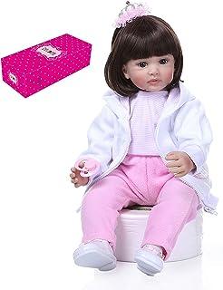 SOOBA 24 inch Reborn Baby Doll Big Size Lifelike Silicone Rebirth Dolls Soft Touch Girl Princess Dolls for Kids Birthday T...