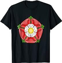 Tudor Rose T-Shirt Union York Lancaster Flower Graphic Tee
