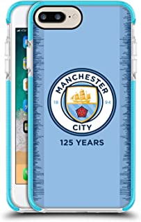 Official Manchester City Man City FC 2018/19 Kit 125 Year Anniversary Blue Shockproof Gel Bumper Case for iPhone 7 Plus/iPhone 8 Plus