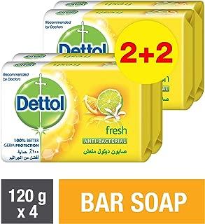 Dettol Fresh Anti-bacterial Bar Soap 120gm (2+2)