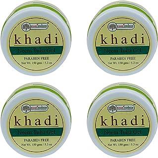 Khadi Rishikesh Herbal Neem Tulsi Gel Combo Set Pack Of 4 x 150 gm (600 gm)