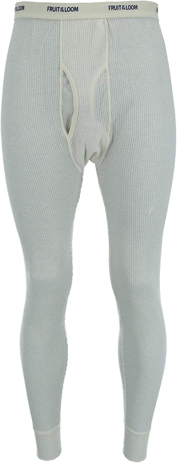 Fruit of the Loom Men's Big and Tall Thermal Underwear Pants, 3X, Natural