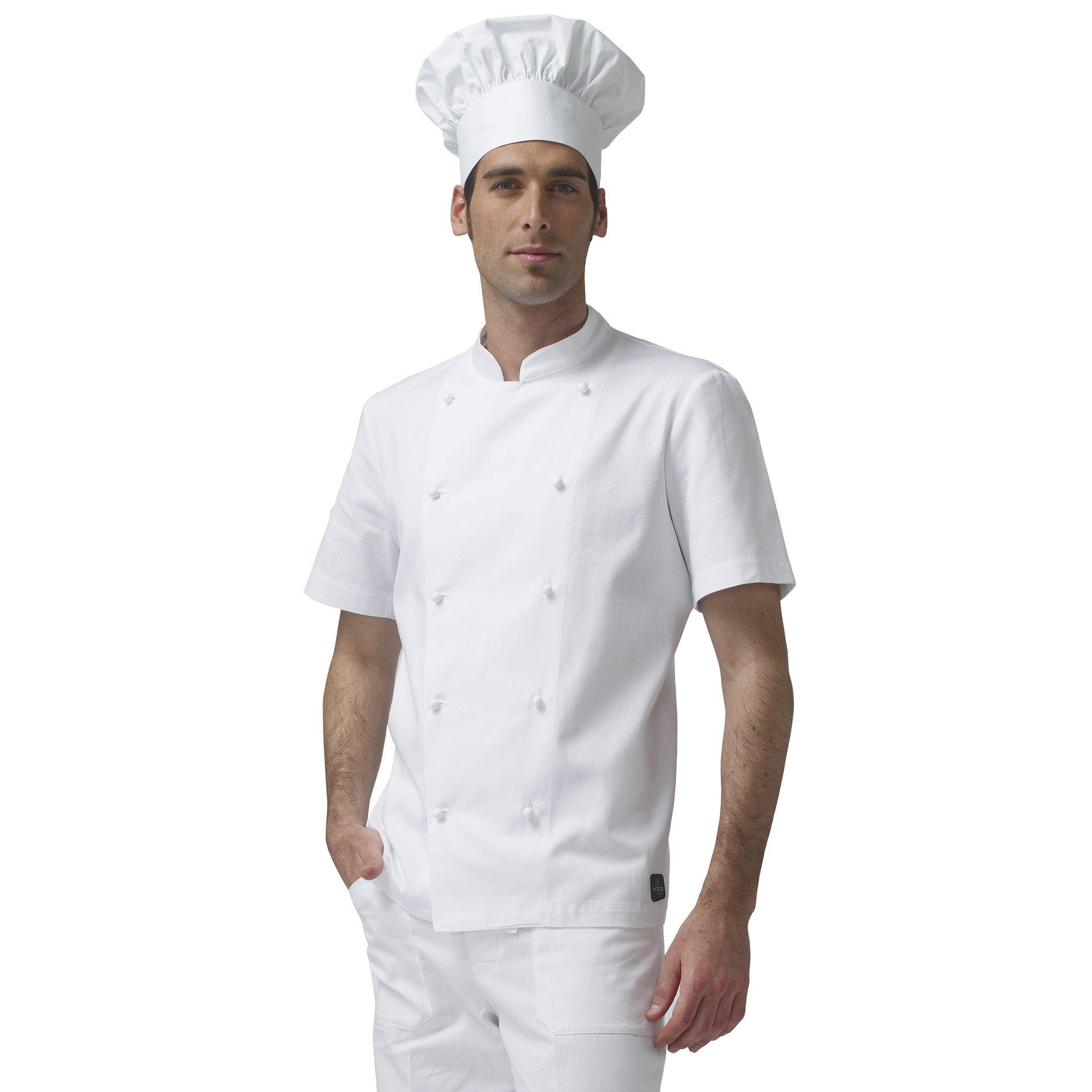 SIGGI – Chaqueta Cocinero Antonio Manga Corta de algodón 100 ...
