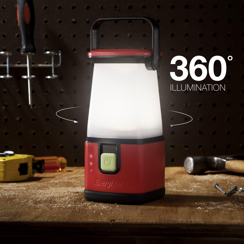 Energizer LED Camping Lantern Flashlight, 650 Hour Run-Time, 500 Lumens, IPX4 Water Resistant, Battery Powered LED Lantern - Use for Hurricane, Emergency Light, Camping
