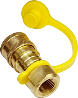 DOZYANT Propane/Natural Gas Quick-Connect Brass Fitting 3/8Inch Female Pipe Thread x 3/8Inch Male Flare Quick Connect Disconnect for Natural Gas Quick Connect Hose Kit