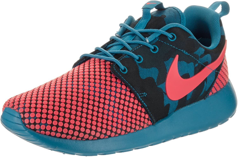 Nike Men's Roshe One Prem Plus Running shoes-Brigade bluee Bright Crimson