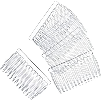 Darice Hair Combs Clear Plastic 42 x 70 144 Pieces Made inch The USA 144 Pieces (1-Pack) 10078-8