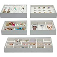 Magic Stackable Jewelry Trays Closet Dresser Drawer Organizer for Accessories, Gadgets &...