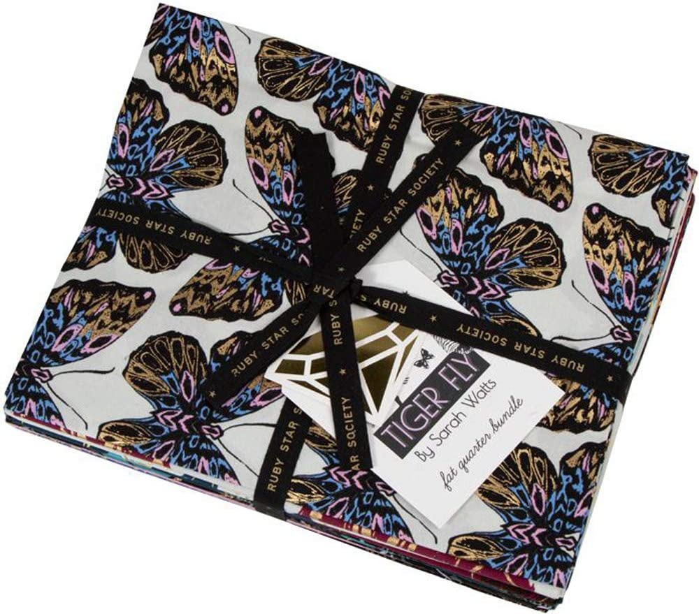 Sarah Watts Tiger shopping Fly 15 Fat Panels Quarters Ruby Star Society New arrival 3