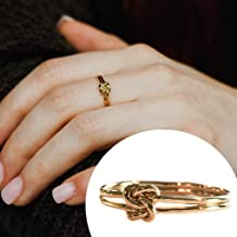 Double Knots Ring 14k Gold Filled Size 7 - Delicate Knot Jewelry - Best Friend Gift