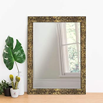 Art Street Classy & Trendy Home Decor Lavaliere Black Wall Mirror - 15X21 Inchs,