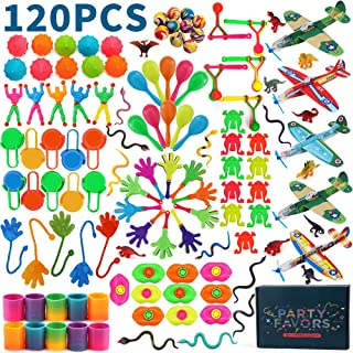 Amy&Benton 120pcs Party Favours Assortment for Kids Bulk Party Fillers Toys Loot Bag Fillers Toy Bulk Gift Toys for Boys G...