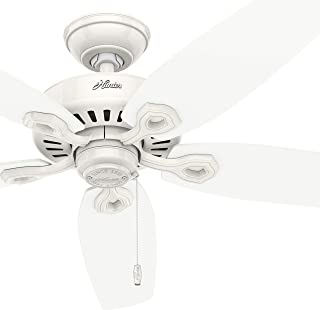 Hunter Fan 52 inch Outdoor Ceiling Fan in Snow White with 5 Reversible Blades (Renewed)