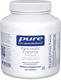 Pure Encapsulations - Pancreatic Enzyme Formula - Hypoallergenic Supplement to Support Proper Digestive Function - 180 Cap...