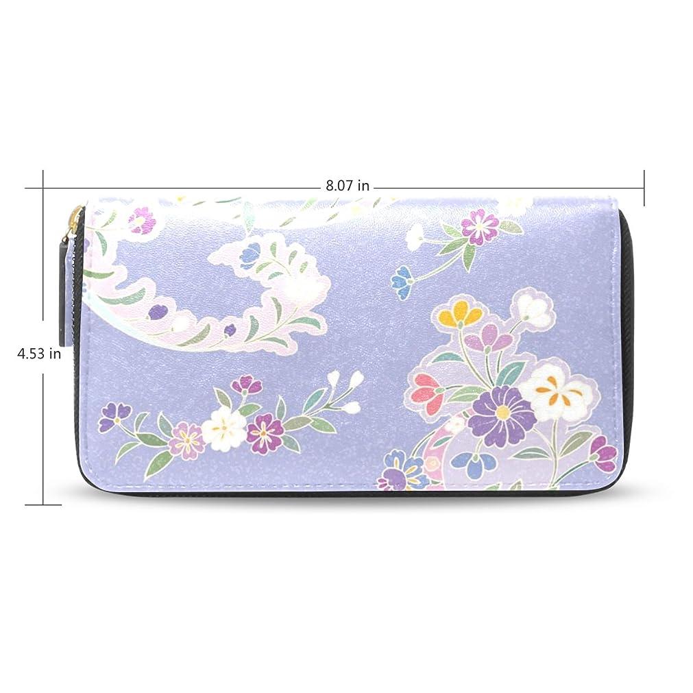 に関して運命的な分泌するUSAKI(ユサキ) レディース メンズ ファスナー 財布,かわいい 和風 和柄 きれい 花柄 小柄,お札 小銭 カード入れ 大容量 長財布 入学式 卒業式 誕生日 プレゼント M87