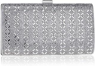 Fine Bag/Women's Banquet Bag Elegant Beaded Clutch Bag Large-Capacity Shoulder Bag Banquet Bag (Color : Silver, Size : One Size)