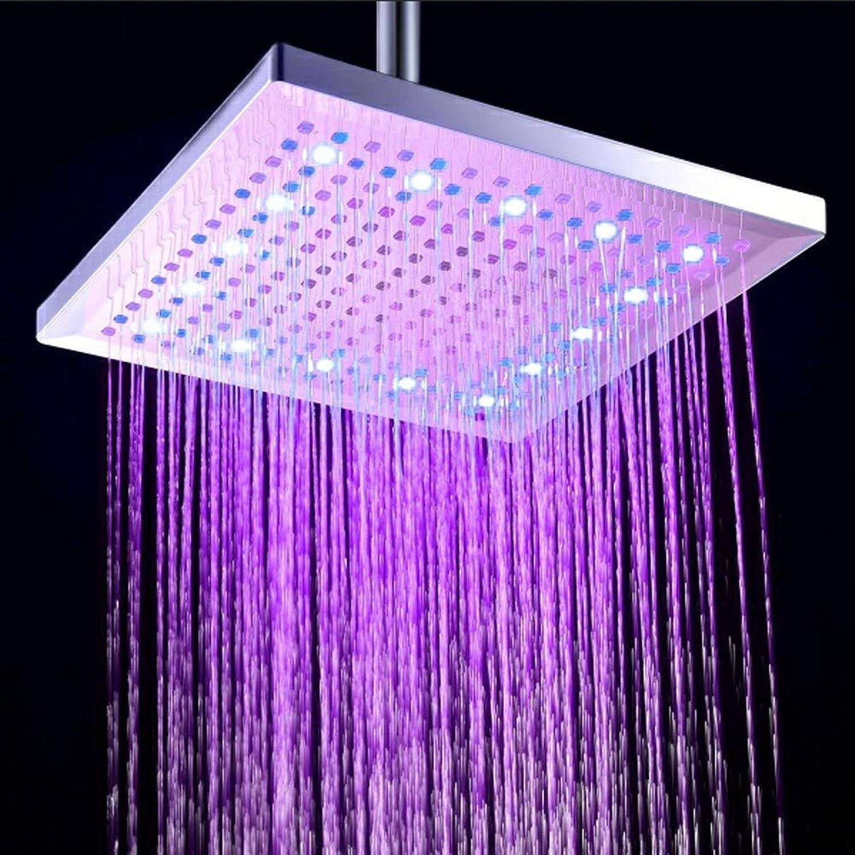 YYBFG 12 inches Rainfall Shower Head Overhead for Bathroom High Pressure Square