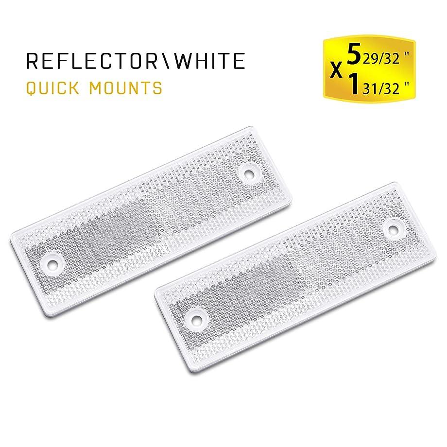 MFC PRO Stick-On Trailer Reflector, Reflective White (White, Sticker/Screw Mount)