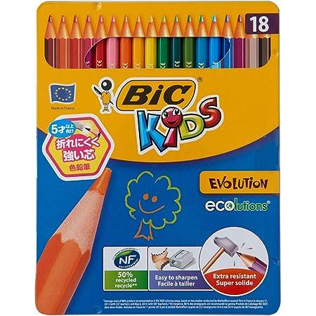 ビックキッズ 色鉛筆 18色 BKEVOM18E