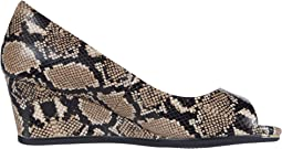 Amphora Exotic Snake Print Leather/Black