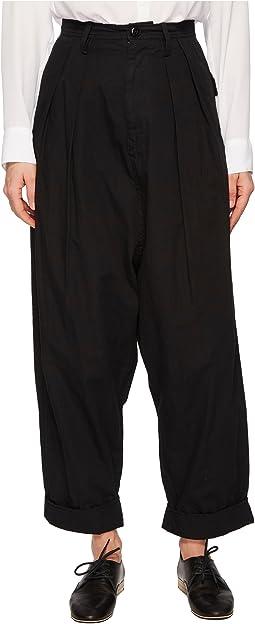 Y's by Yohji Yamamoto A-2 Tuck Hem Mackin P Cuffed Pants