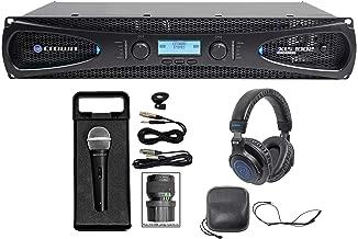 Crown Pro XLS1002 XLS 1002 700 Watt DJ/PA Power Amplifier Amp+Headphones+Mic