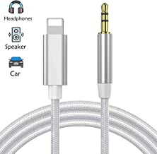 Aux Cable for Car for iPhone X/XS/8/8Plus/7/7Plus Jack to 3.5mm Male Audio Adapter for Headphones Jack Cable Aux Cord for Car Stereo, Headphone, Speaker Compatible with All iOS Systems 3.3ft