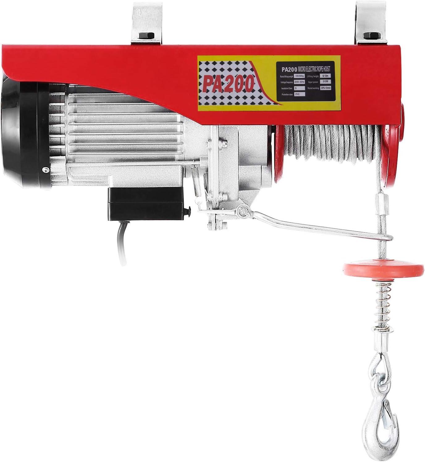 VEVOR 200KG 440LBS Polipasto Eléctrico Longitud del Soporte de Poste de Montaje En Pared polipasto eléctrico para elevación Cabestrante de Cable Eléctrico
