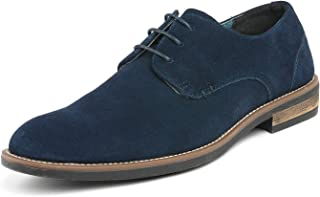 Bruno Marc Men's URBAN-08 Navy Suede Leather Lace Up Oxfords Shoes - 11 M US