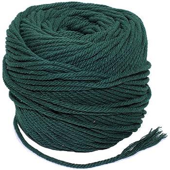 Deng Xuna Fil de Coton 3.5mm x 100m en Ficelle Naturelle Douce DIY Craft Knitting Dream Catcher Beige Corde en Coton macram/é pour Suspendre Les Plantes