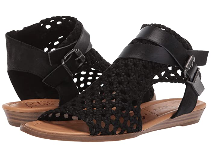 Blowfish  Balla D (Black Woven Draped Micro) Womens Sandals