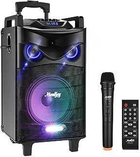 Bluetooth Sonorisation Portable Moukey Karaoké Speaker Audio Haut-parleurs 140 W Enceinte Sono PA système avec lumières DJ...