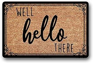 LSS Trading Well Hello There | Welcome Doormat | Custom Doormat | Outdoor Doormat | Personalized Mat | Cute Doormat | Wedding Gift | Housewarming Gift | 18