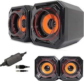 Mailin Computer Speakers, Laptop Speakers,pc speaker, Small Cute Computer Speaker with Mega Bass Vibration Membrane USB Po...