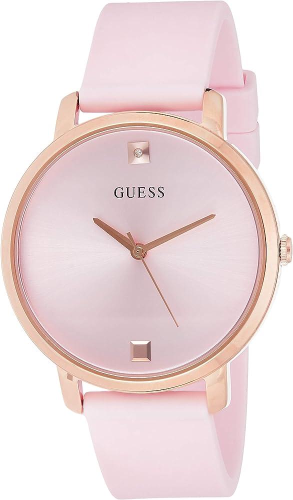 Guess,orologio per donna,con cassa in acciaio inossidabile e cinturino in silicone W1210L3