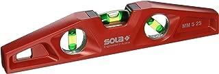 Sola MM 5 25 Cast Aluminum Magnetic Torpedo Level, Red