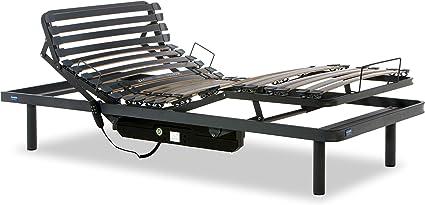 Gerialife® Cama Articulada Eléctrica Reforzada (90x200, Gris Grafito)
