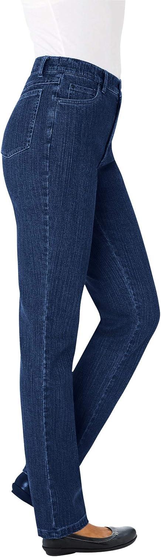 Woman Within Women's Plus Size Straight Leg Tummy Tamer Jean
