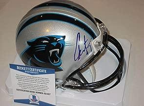 Cam Newton Signed Mini Helmet - w Beckett COA - Beckett Authentication - Autographed NFL Mini Helmets