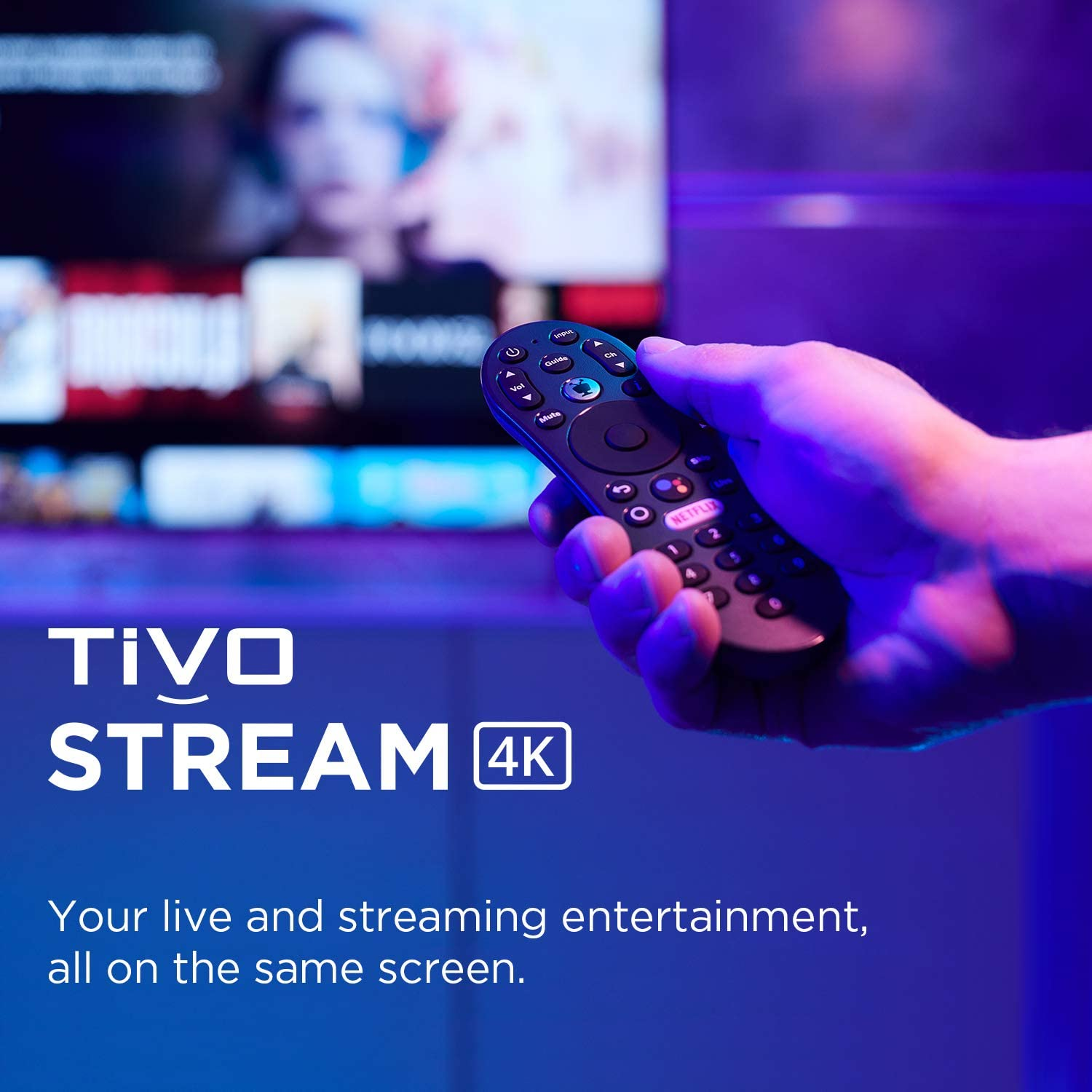 TiVo Stream 4K – Every Streaming App and Live TV on One Screen – 4K UHD, Dolby Vision HDR and Dolby Atmos Sound – Powered by Android TV – Plug-In Smart TV