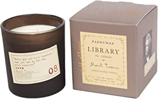 Paddywax Library Collection Mark Twain Scented Soy Wax Candle, 6.5-Ounce, Tobacco Flowers