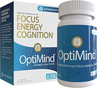 OptiMind Nootropics Brain Booster Supplement, Enhance Focus and Energy, As Seen on Netflix, 1-Pack (32 Ct)