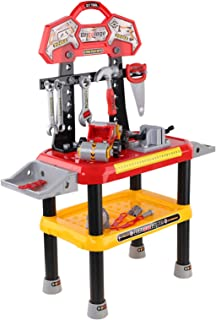 Keezi Kids Play Toy Tool Set with Workbench Workshop Car-Red