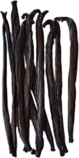 Native Vanilla Grade B Tahitian Vanilla Beans – 10 Premium Extract Whole Pods – For Chefs and Home Baking, Cooking, & Extr...